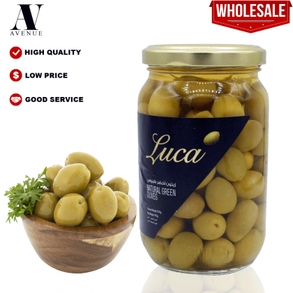 Luca Natural Green Whole Olives 200g زيتون أخضر طبيعي