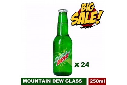 (STOCK CLEARANCE) Saudi Mountain Dew Glass Bottles ( 24x250ML ) Expire 10/2020