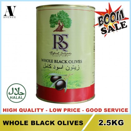 Rafael Selgado Whole Olives 2.5 kg - Spain Zaitun ( GREEN - BLACK )
