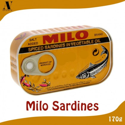 Milo Sardines 125g ( chili & normal in vegetable oil )